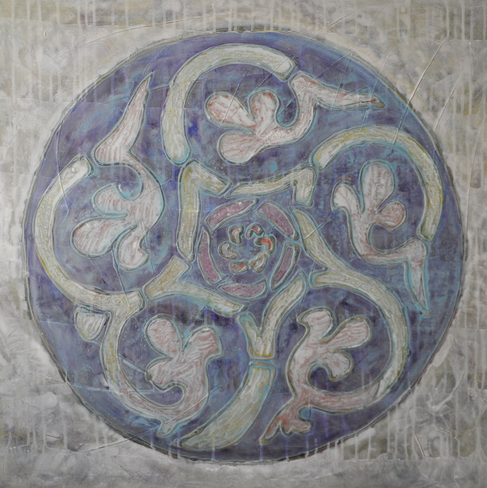Arabic pattern, acrylics and mixed media on canvas, 80/80, 2012